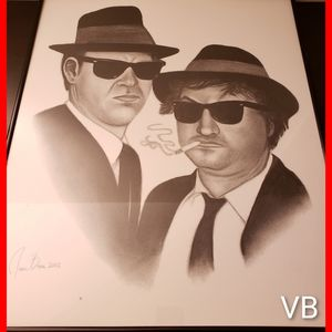 Blues Brothers Lithograph Original Black Framed